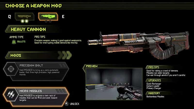 Unlock Heavy Cannon gun in Doom Eternal