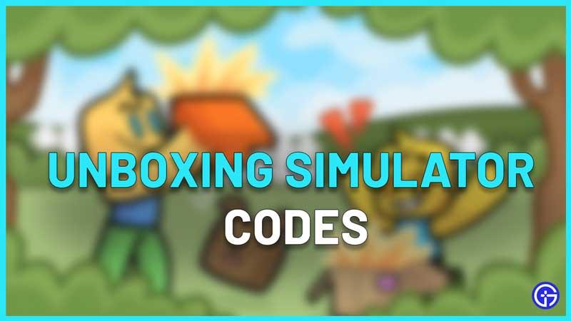 roblox unboxing simulator codes