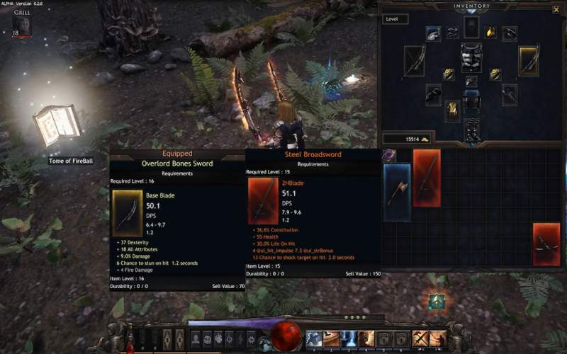 wolcen item type and level list