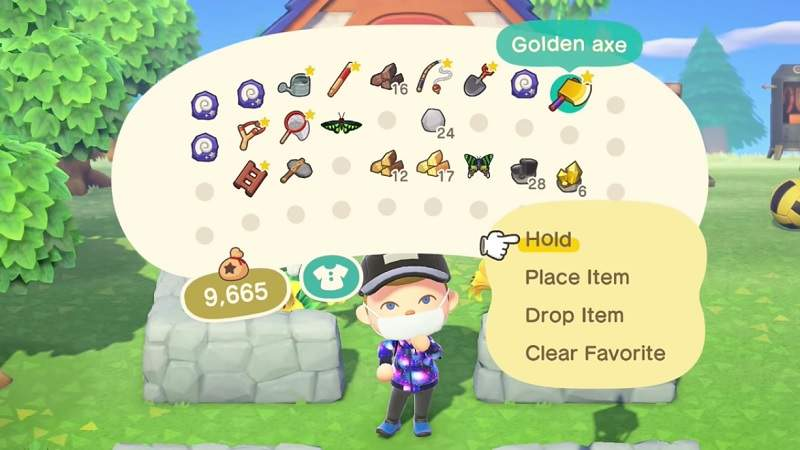 The Golden Axe in Animal Crossing New Horizons