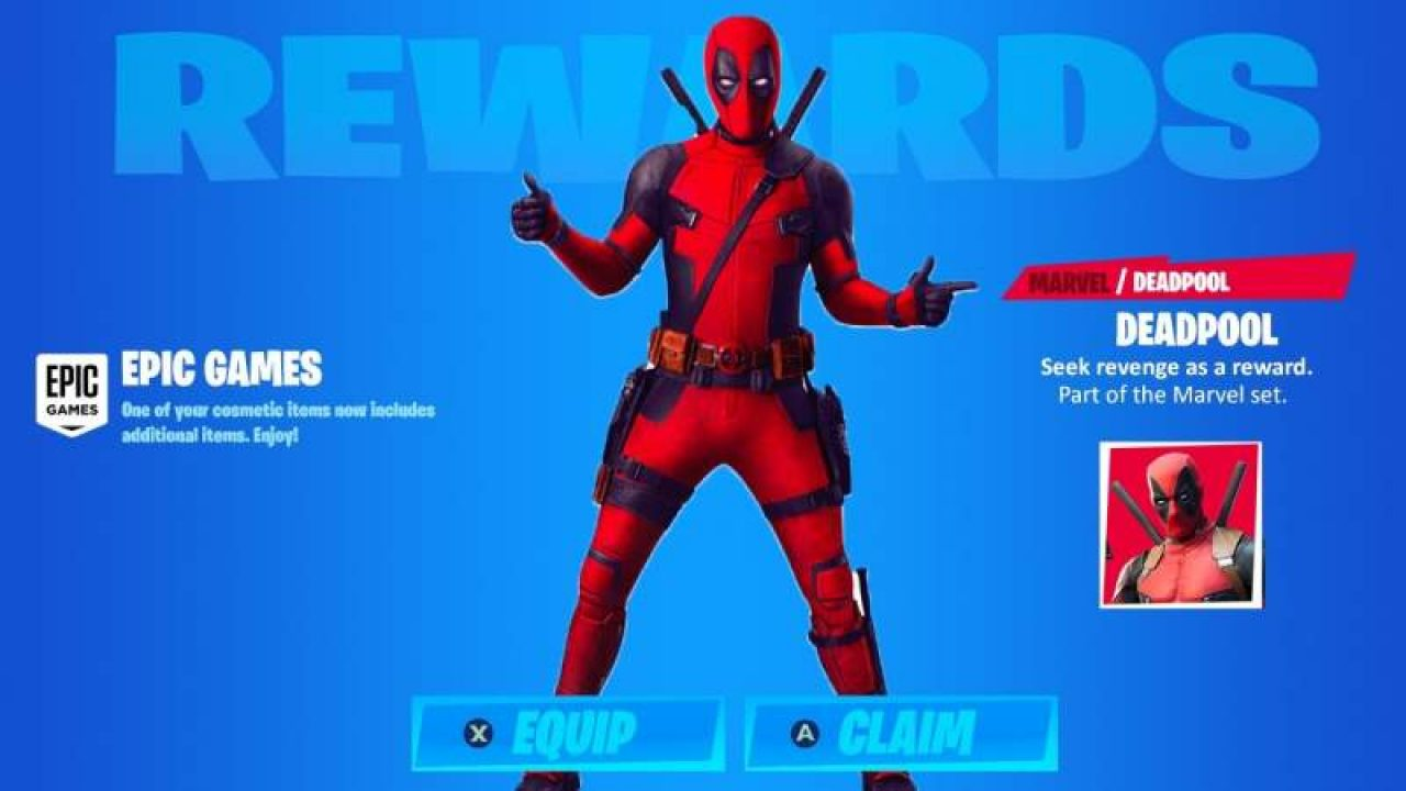 Fortnite Chapter 2 How To Get Deadpool Skin Pistols Katanas Location
