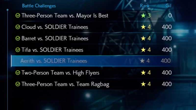FF7 Remake Shinra Combat Simulator