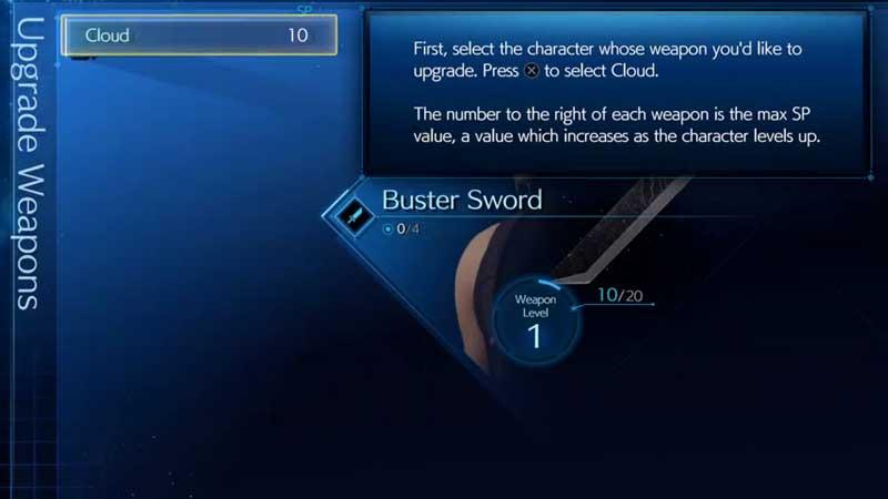 FF7 Remake Upgrade Weapon