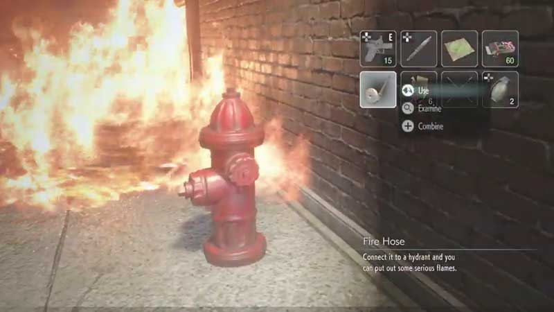 RE3 Remake Ally Fire Puzzle