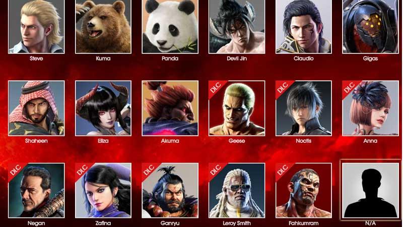 tekken 7 characters 2020