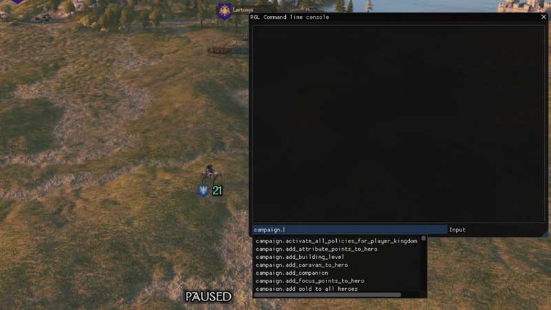 Mount and Blade II Developers Console Mod