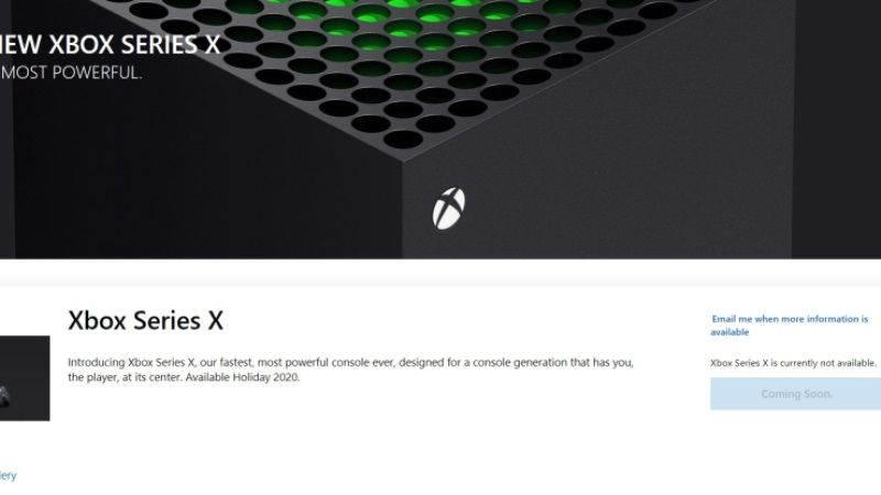 Xbox Series X Official Pre-Order Page