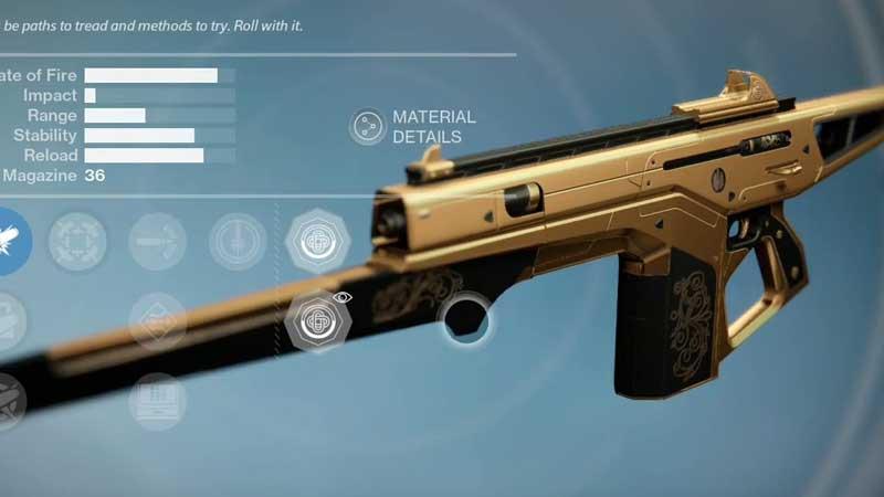 Destiny 2 Monte Carlo Gold Skin