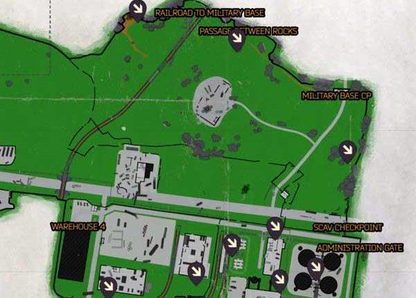 Escape from Tarkov Custom Map Spawn East Location