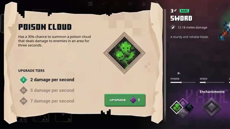 Minecraft Dungeon all Melee Weapons Perk