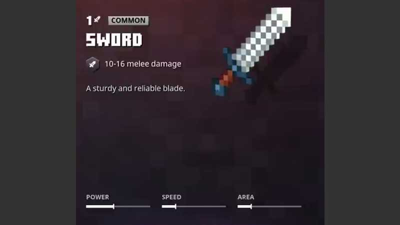 Minecraft Dungeons Weapon Stats