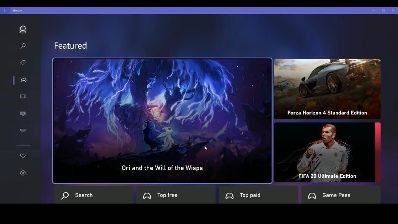 Xbox Store New User Interface