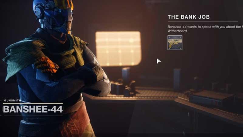 Destiny 2 Banshee Bank Job Quest