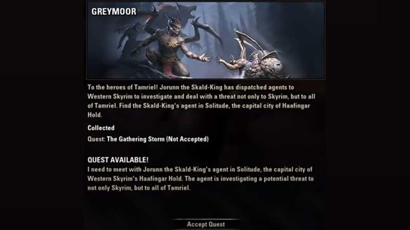 ESO Greymoor Quest