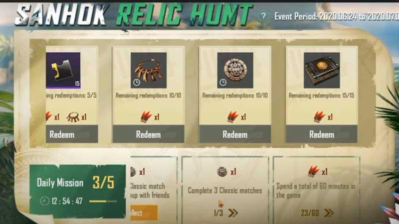 sanhok-relic-hunt-title