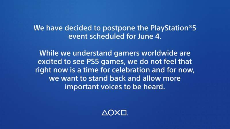 sony playstation 5 event cancelled