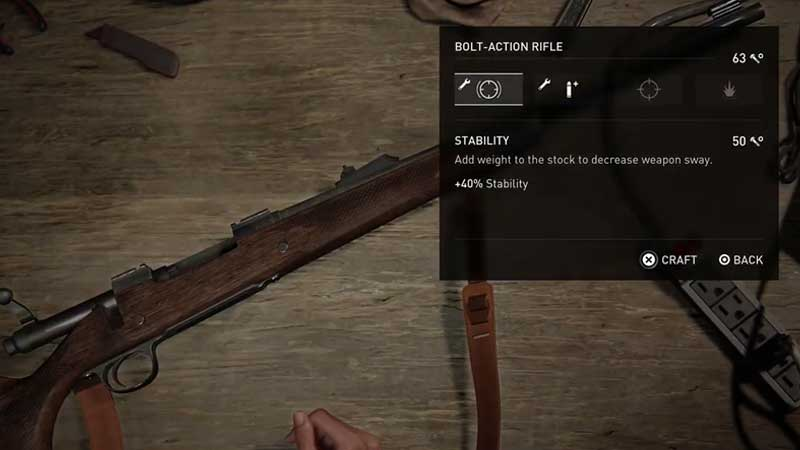 TLOU2 Weapons Upgrade