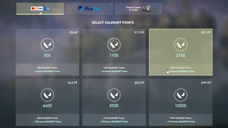 Valorant Points Store