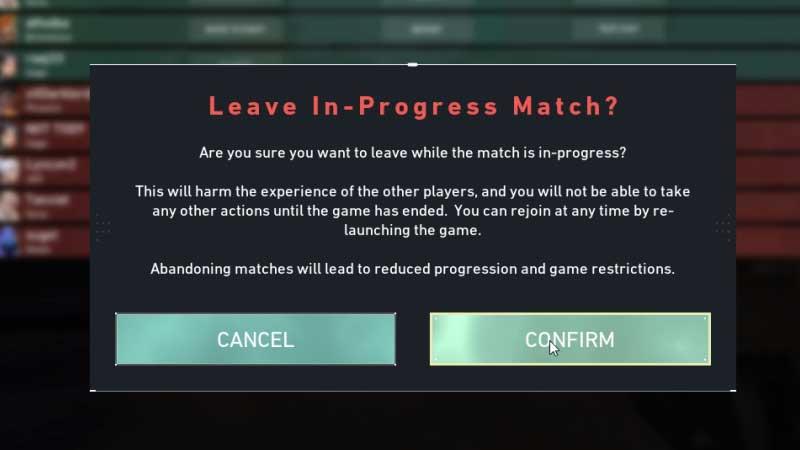 Valorant Leave Match Tips