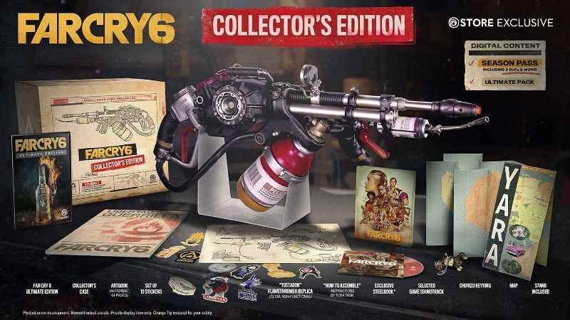 Far Cry 6 Collector's Edition Includes Flamethrower