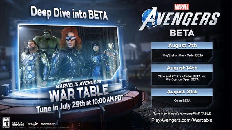 Marvel's Avengers Beta Confirmed