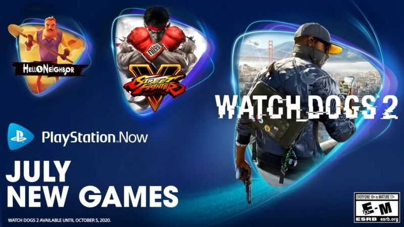 PS Now July 2020 Watch Dogs 2, Street Fighter 5, & Hello Neighbor