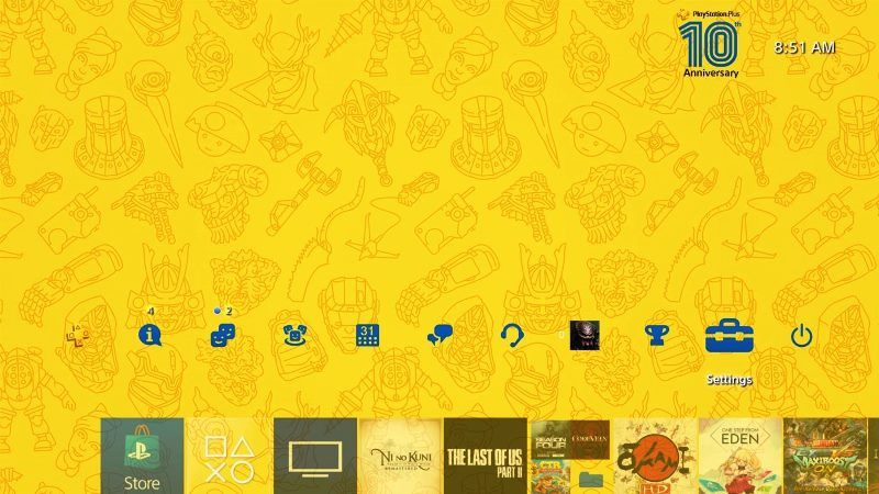 PS Plus 10th Anniversary PS4 Theme Available for Download Now