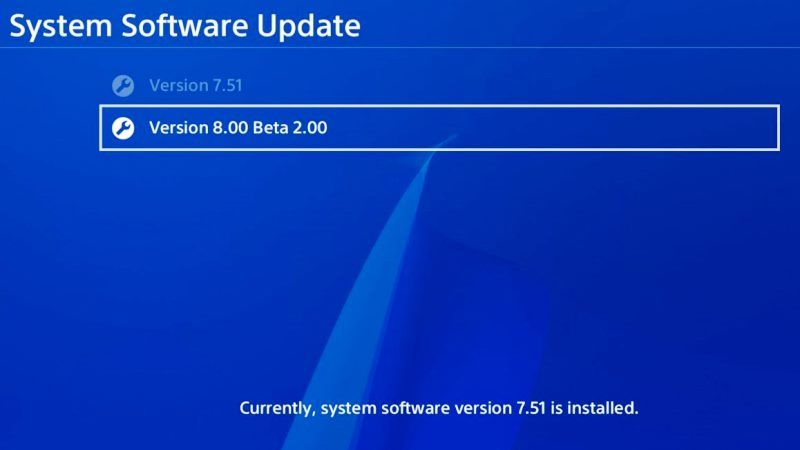 PS4 System Software Update 8.00 Beta Released
