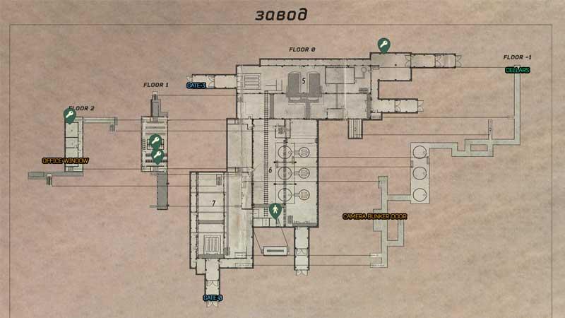 Escape From Tarkov Factory Map Full Escape Guide Key Locations