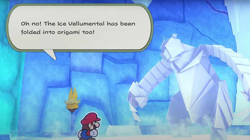 how-to-beat-ice-vellumental-paper-mario-origami-king