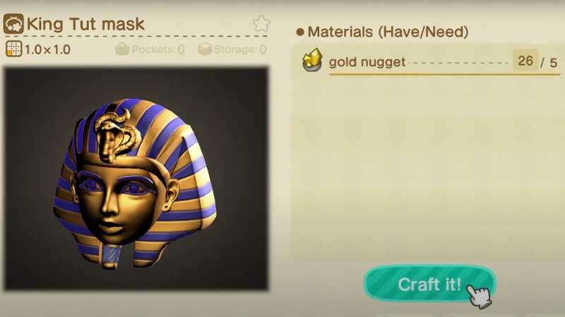 how-to-get-king-tut-mask-acnh