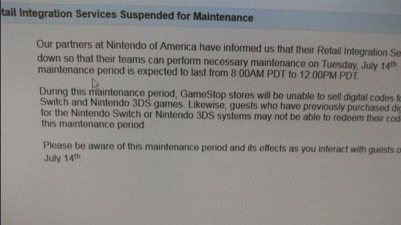 GameStop Switch Leak