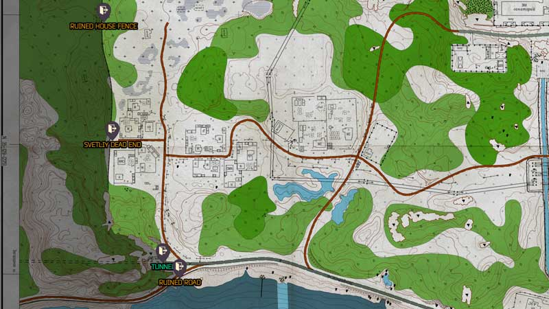 Tarkov Shoreline Extraction Points West