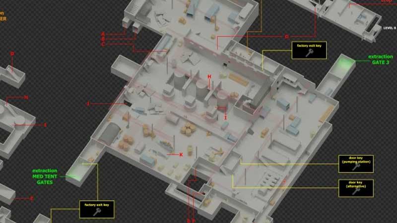 Tarkov Factory Map New