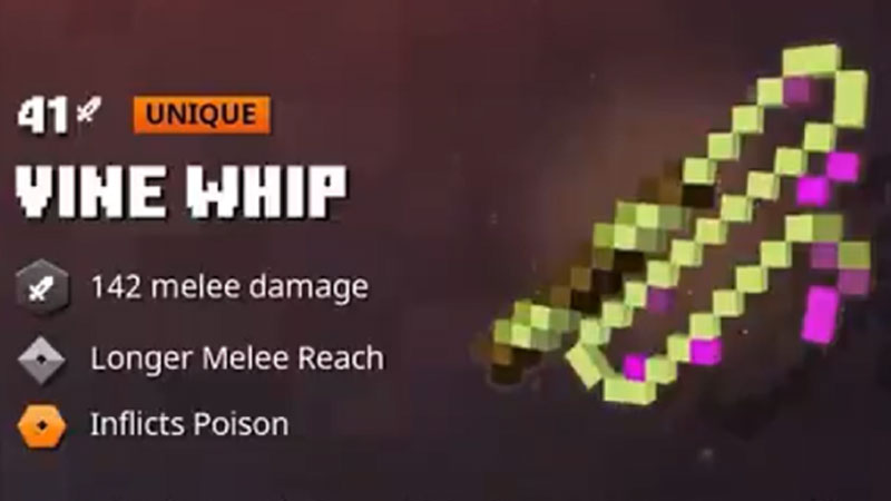 vine whip minecraft dungeons jungle awakens