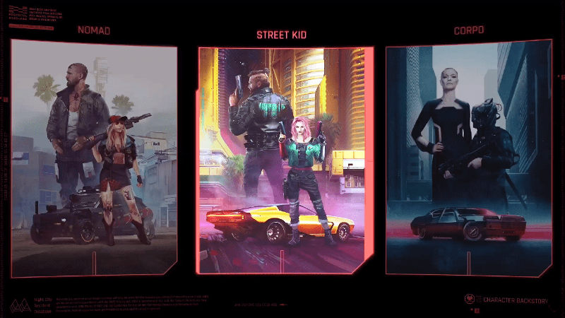 Cyberpunk 2077 Details on Three Life Paths