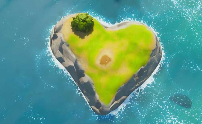 Heart Shaped Island Location