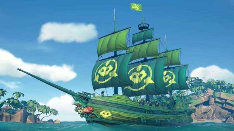 How To Get Fightin' Frogs Battletoads Ship Set In Sea Of Thieves