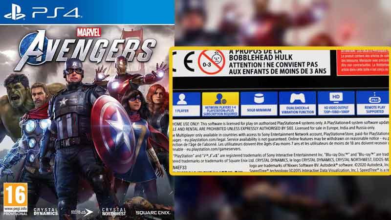 Marvel's Avengers PS4 File Size Storage