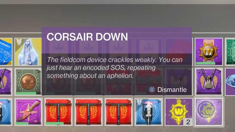 Destiny 2 Forsaken Corsair Down Badge