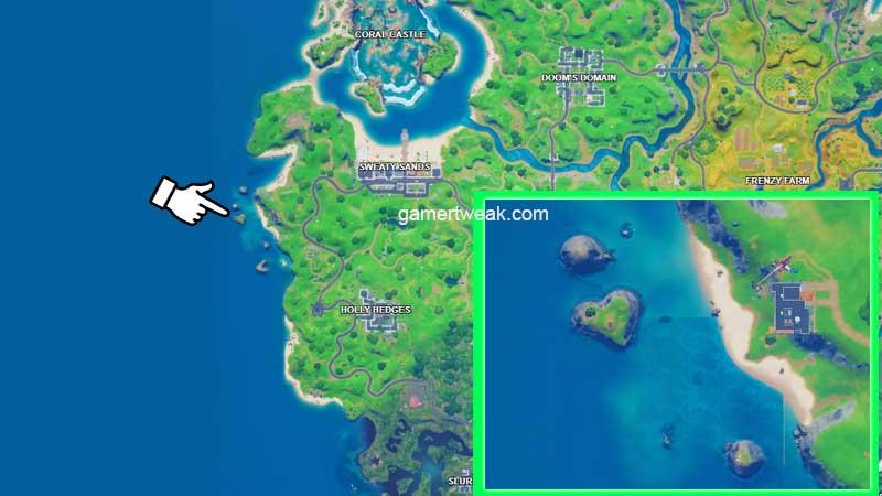 Fortnite Heart Shape Island