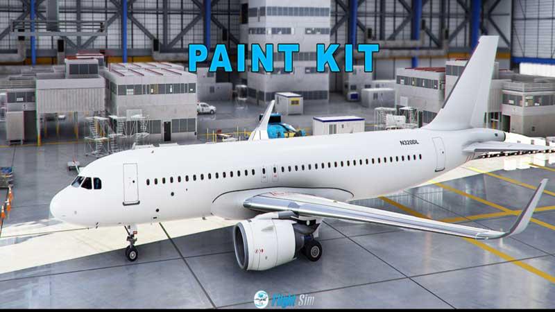 Microsoft Flight Simulator A320 Texture Template Kit
