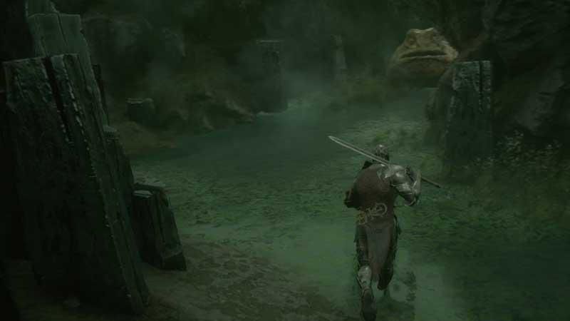 mortal-shell-frog-statue