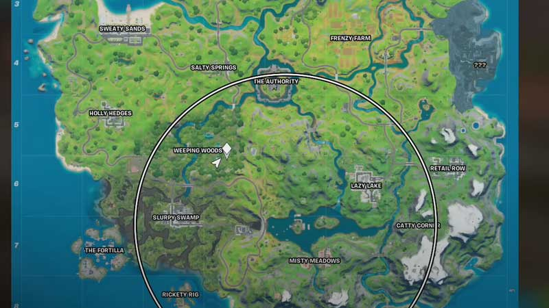 where-is-weeping-woods-fortnite-map