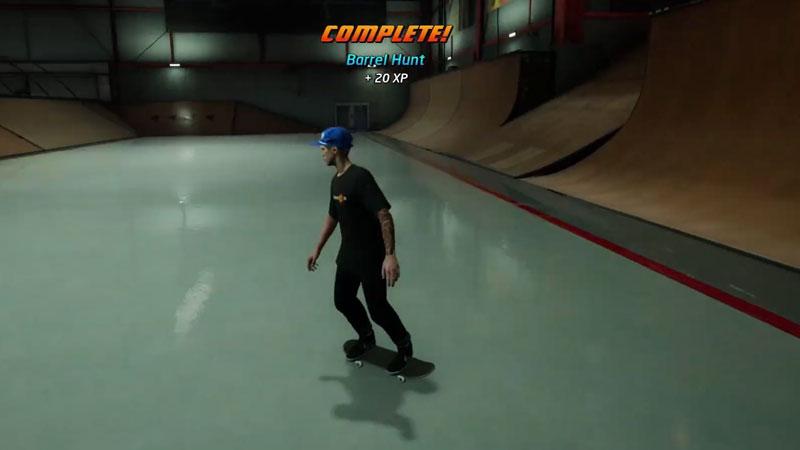 Barrel Hunt on The Hangar in Tony Hawks Pro Skater 1 2