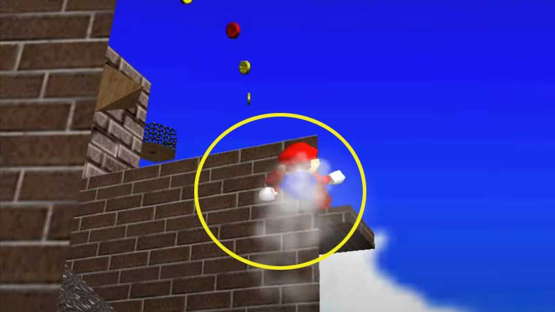 Blast-Away-the-Wall-in-Whomp's-Fortress-In-Super-Mario-64