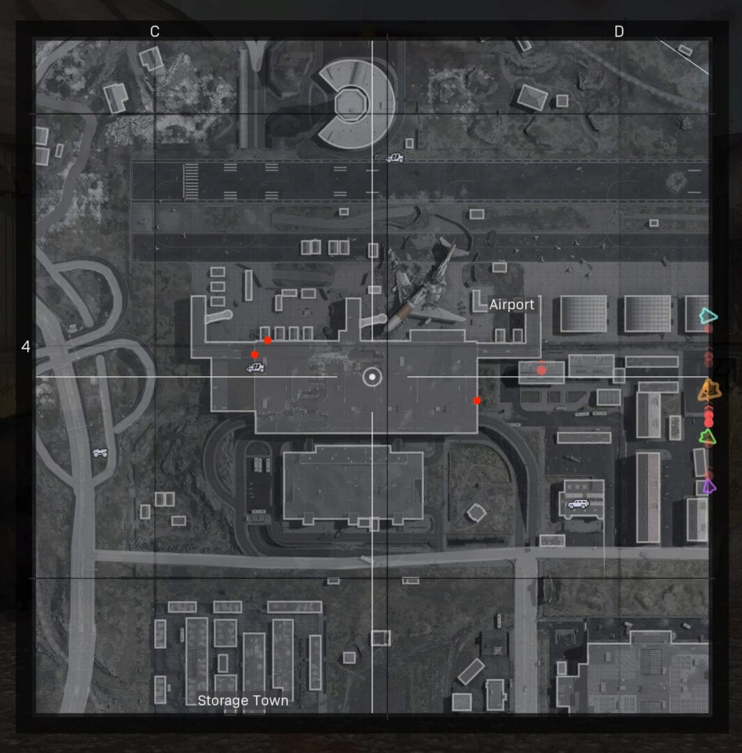 CoD Warzone Airport Roof Map