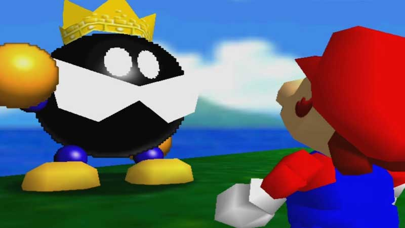 How to beat king bob-omb in Super Mario 64 3D All Stars