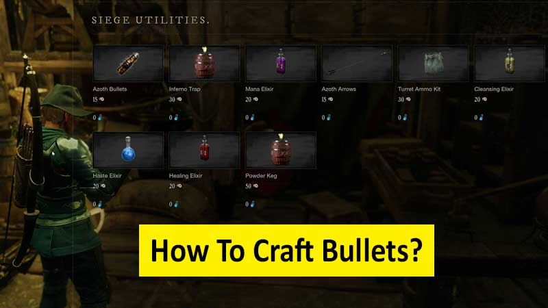 How to craft bullets in New World