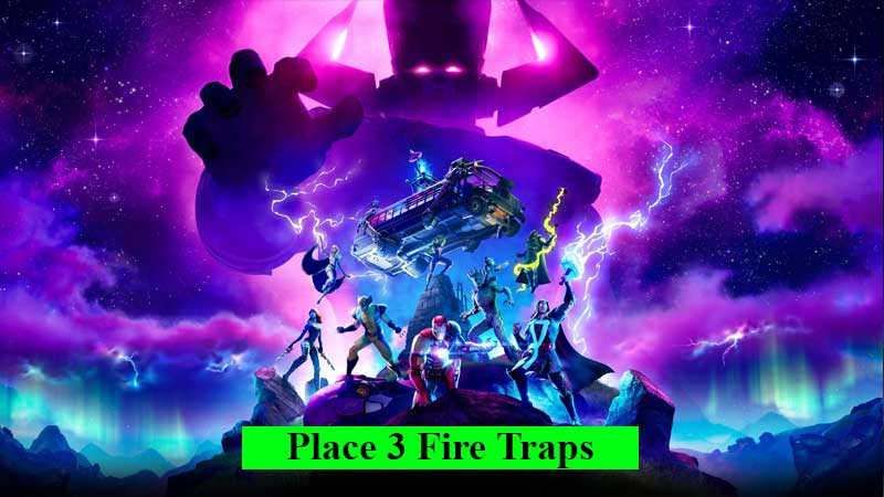 How-to-place-3-fire-traps-in-Fortnite
